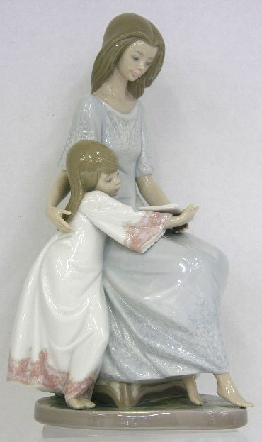 """12: Lladro Figure """"Bedtime Story,""""  20th c., #5457, H.-"""
