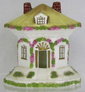 "13: Coalport Bone China ""Thatched Cottage"" Pastille Bur"