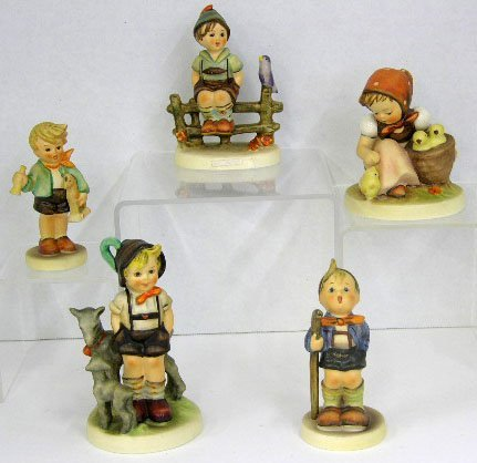 "15: Five Hummel Figurines- ""Little Goat Herder,"" #200,"