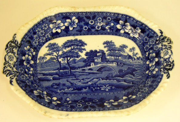 "17: Copeland Spode Spoon Tray, c. 1900, in the ""Tower"""