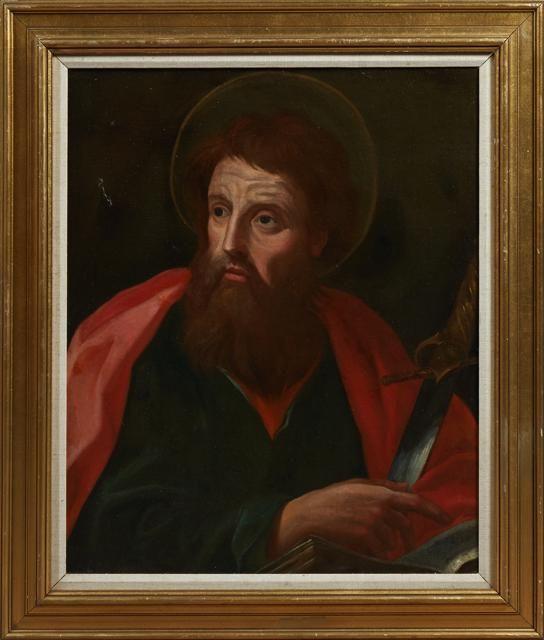 "Old Master School, ""Portrait of Saint Paul,"" 19th c.,"