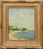 """Eugene Boudin (1824-1898, French), """"Coastal Scene,"""""""