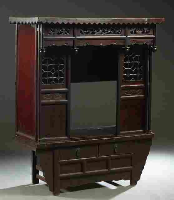 Mixed Woods Meditation Shrine/Cabinet, early 19th c.,