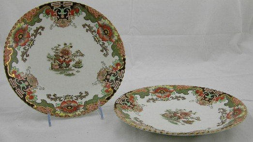 8: Pair of English Victorian Ironstone Plates, 19th c.,
