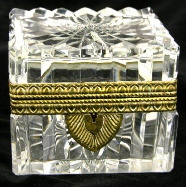 20: Glass and Brass Mounted Dresser Box, early 20th c.,