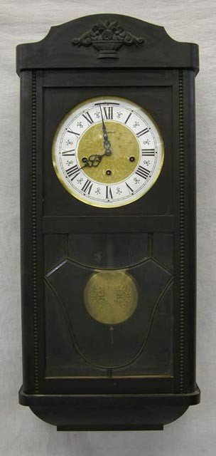 "3:  Carved Pine ""President"" Wall Clock, c. 1950,"
