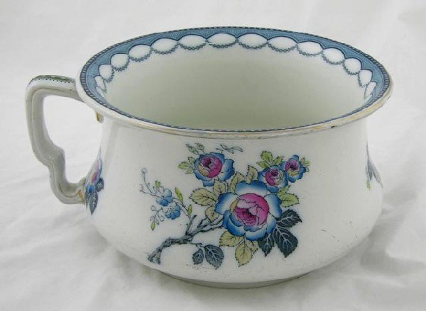 6:  English Ceramic Chamber Pot, c. 1900, by Kee