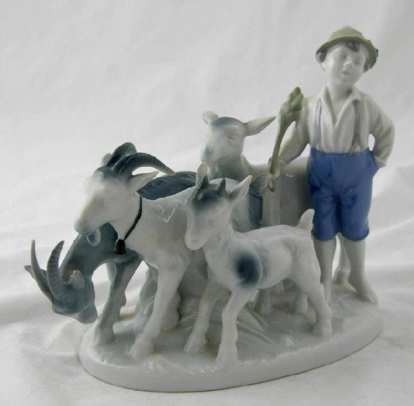 23:  German Porcelain Figural Group, 20th c., in