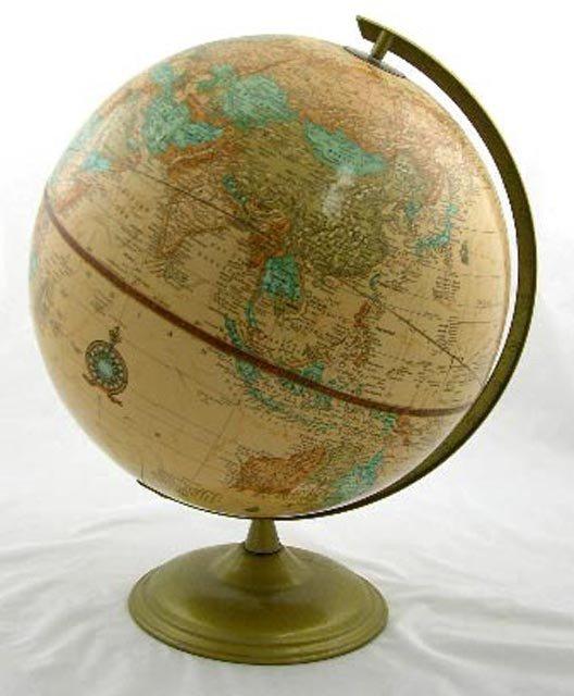 676:  Cram's Imperial World Globe, mid 20th c.,