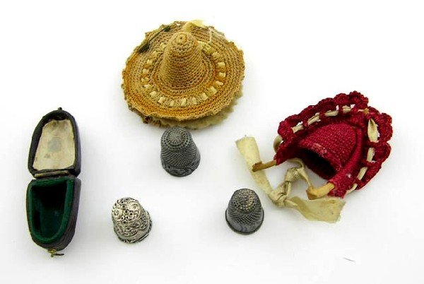 751:  Three Sterling Thimbles, c. 1900, one in
