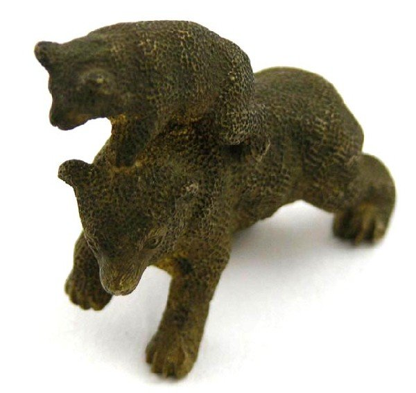 759:  Vienna Bronze Figure, 19th c, of a bear