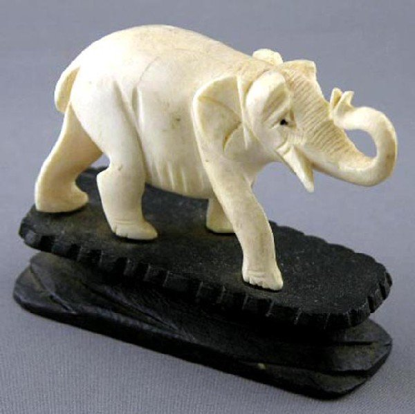 760:  Oriental Carved Ivory Figure, early 20th