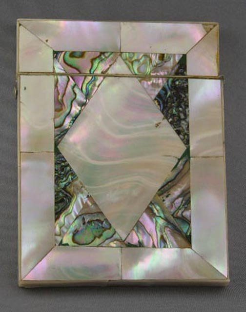 762:  Abalone and Mother-of-Pearl Calling Card
