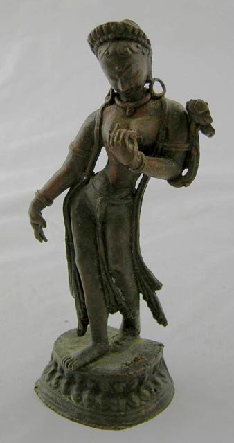 763:  Bronze Dancing Shiva Figure, 19th c, on