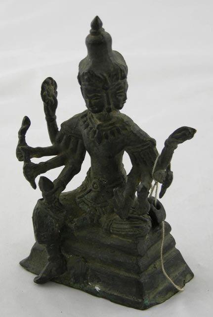 764:  Bronze Seated Shiva Figure, 19th c., wit