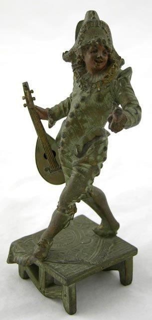765:  Vienna Bronze, late 19th c., of a mandol