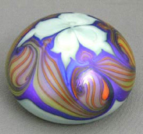 765A:  Art Glass Matte Finish Paperweight, #12
