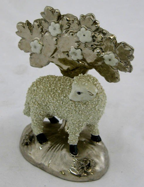 9: Unusual Pottery Lamb, early 20th c., by Gray's Potte