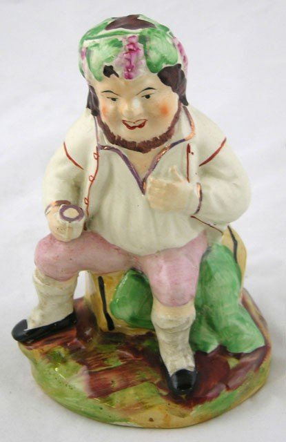 10: Unusual Staffordshire Figure of Bacchus, late 19th