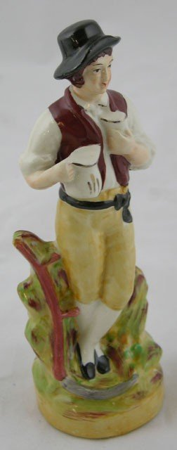 13: Staffordshire Figure of the Beer Drinker, 19th c.,