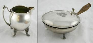 740 Two Silver Plated Pieces early 20th c an Englis