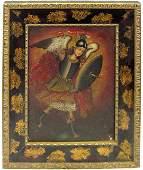 "744: Cuzco School, ""The Archangel Michael,"" early 20th"