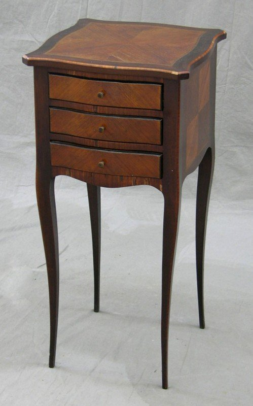 2: Louis XV Style Inlaid Mahogany Night Stand, early 20