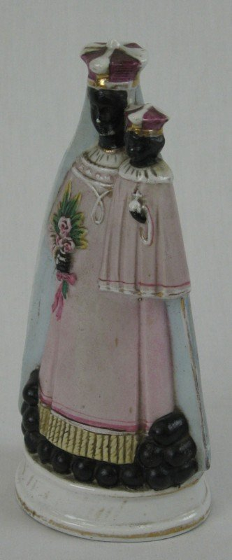 10: Unusual Polychromed Old Paris Porcelain Figure, 19t