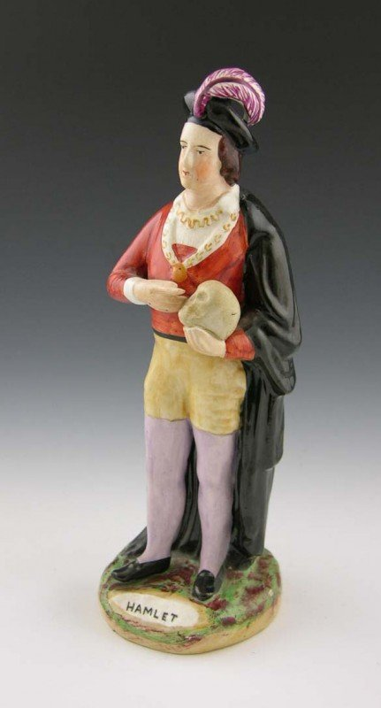 14: Polychromed Staffordshire Figure of Hamlet, 19th c.