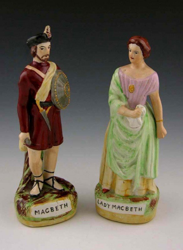 15: Pair of Polychromed Staffordshire Figures, early 20
