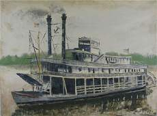 169 W C Buie Mississippi River Steamboat mid 20t