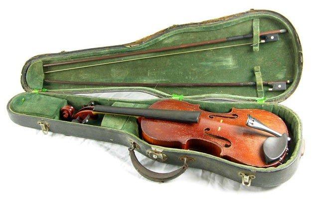 "536: Unusual Violin, 20th c., labeled the ""Evangeline V"