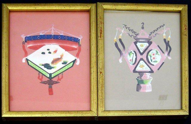 "801: Oriental School, ""Chinese Lantern,"" 20th c., pair"