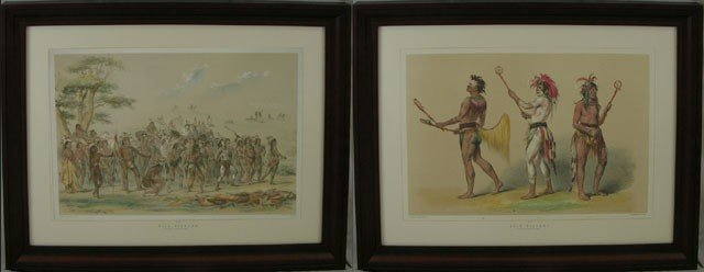 "805: George Catlin, ""Ball Playing,"" and ""Archery of the"