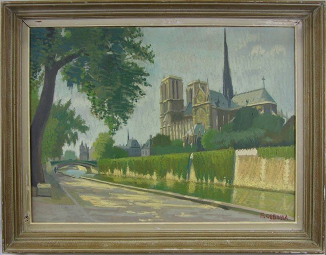 "812: F. Cebolla, ""View of Notre Dame Cathedral,"" early"