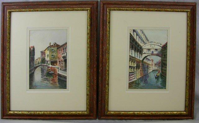 """818: Salvatore Tuzza, """"Venetian Canal Scene,"""" 20th c.,"""