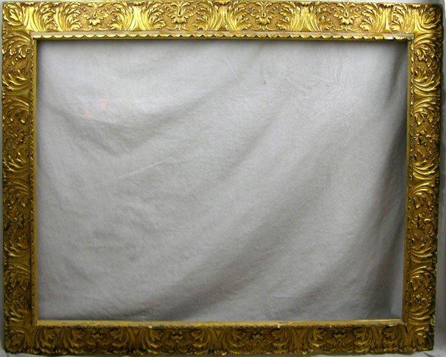 821: Impressive Antique Gilt and Gesso Frame, 19th c.,