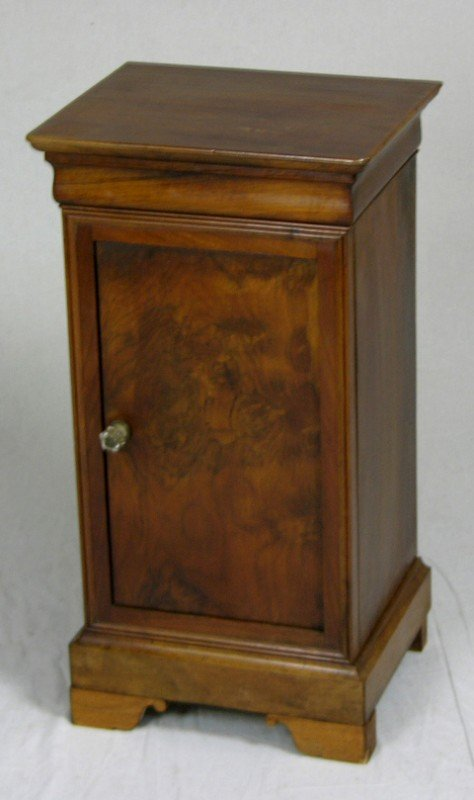 5: French Carved Walnut Night Stand, mid 19th c., the r