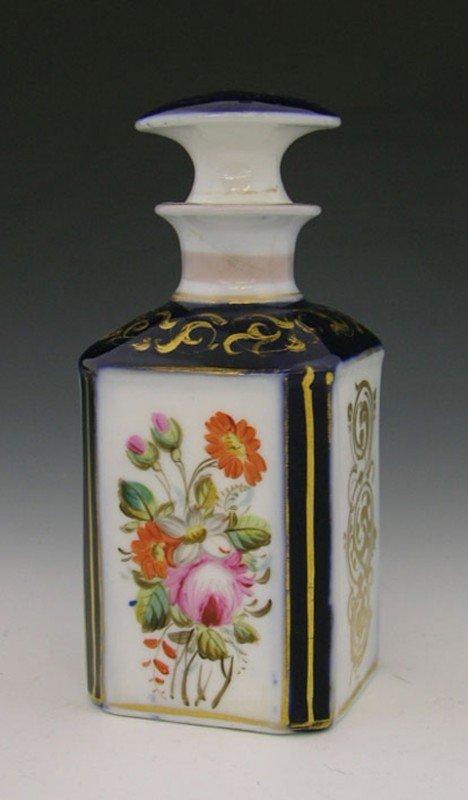 10: Old Paris Porcelain Perfume Bottle, c. 1860, with f