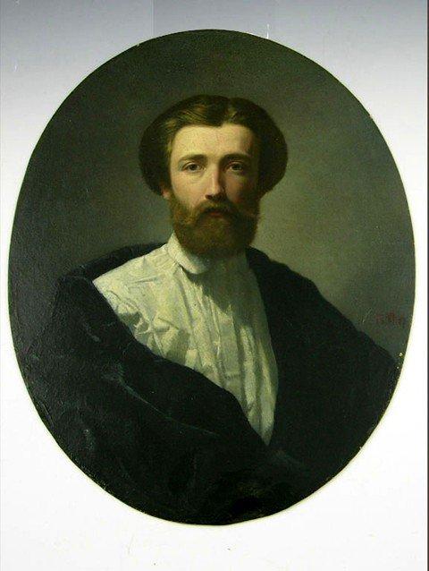 "17: German School, ""Portrait of a Hirsute Young Man,"" 1"