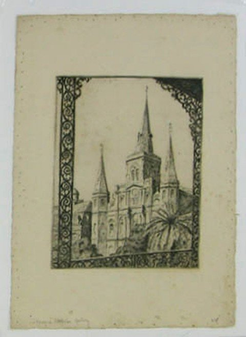 """18: Alice Standish Buell (1892-1964), """"St. Louis Cathed"""