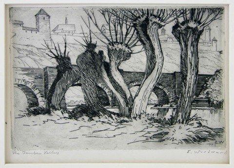 "21: Ellsworth Woodward (1861-1939), ""The Tauber Valley,"