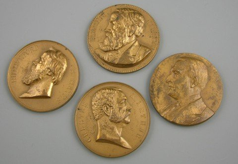817: Group of Four Bronze Presidential Medallions, earl