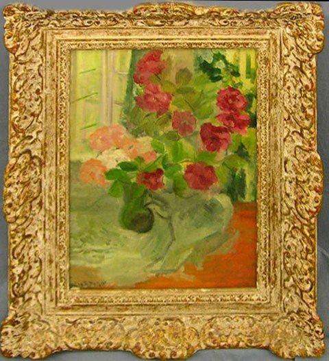 """910: Mina B. Metzger (1877-1975), """"Still Life of Flower"""
