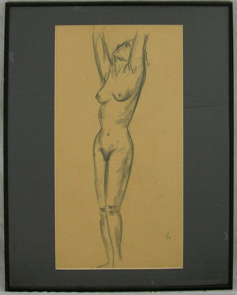 """968: Mickey Tolar, """"Mary Lee,"""" 1952, graphite on paper,"""