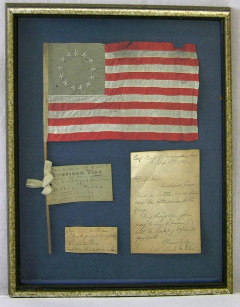 978: Facsimile of the First American Flag, 1902, with a