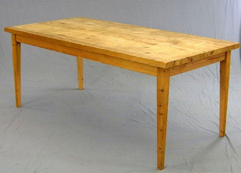 1177: Carved Pine Dining Table, 20th c., the thick plan