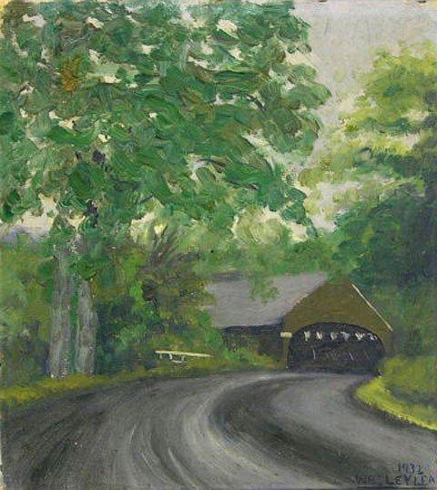 "2: Wesley A. Lea (1914-   ), ""The Covered Bridge,"" 1932"