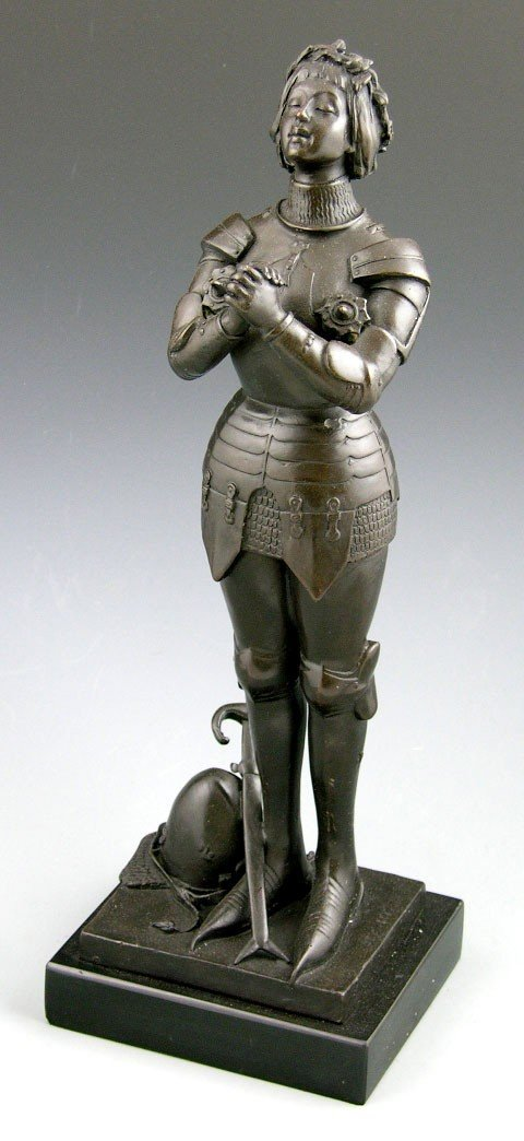4: Joan of Arc, 20th c., bronze in the antique style, s