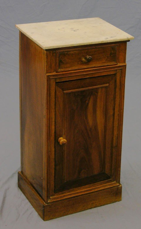 5: Louis Philippe Carved Walnut Night Stand, c. 1840, t